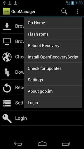 دانلود برنامه دانلود منیجر GooManager Beta 2.1.2 برای اندروید: