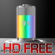 لایو والپیپر باطری اندروید نمایش اطلاعات کامل باطری گوشی Battery HD Free Live Wallpaper