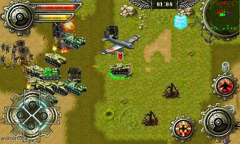 دانلود بازی کلاسیک تانک ها Tank war HD برای اندرویدبهترین بازی های با کیفیت HD برای اندروید