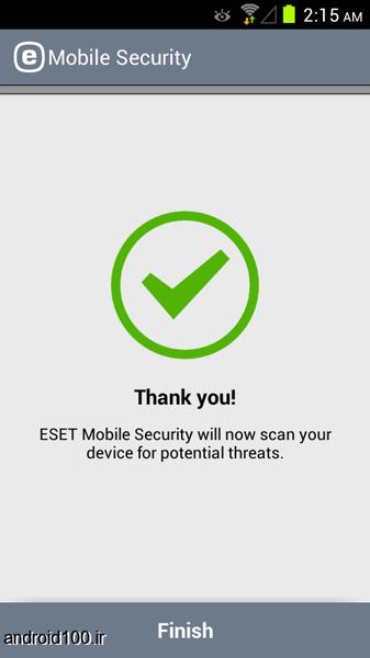 مرحله چهارم نصب و راه اندازی آنتی ویروس ESET Mobile Security