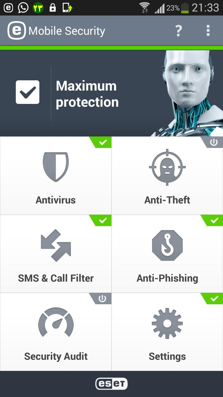 فعال کردن سیستم ضدسرقت ESET Mobile Security